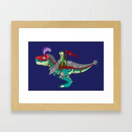 Dino Knight T-Rex Framed Art Print