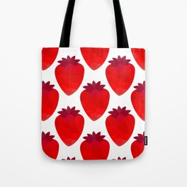 Low poly strawberries Tote Bag