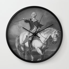 Washington Receiving A Salute At Trenton Wall Clock