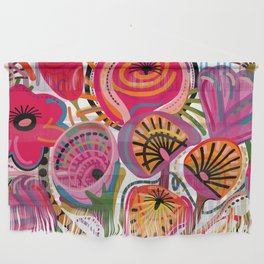 Red Flower Trip Wall Hanging