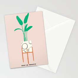 Bird of Paradise in Cute Planter Stationery Cards
