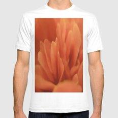 Orange petals MEDIUM Mens Fitted Tee White