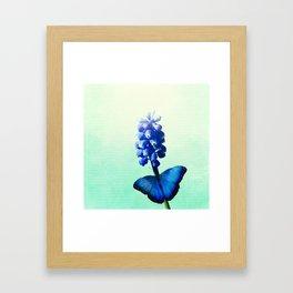 Blue bells on wings Framed Art Print