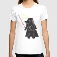 labrador T-shirts featuring Dart Labrador by Luke Skypug