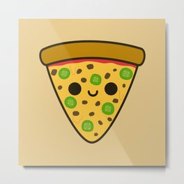 Yummy spicy pizza Metal Print