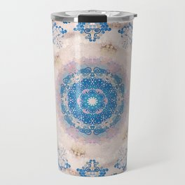 Cream Rose Mandala Travel Mug