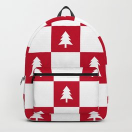 Christmas Tree - red and white check Backpack