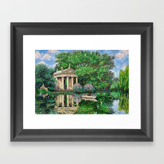 Temple of Aesculapius in Villa Borghese, Rome Framed Art Print