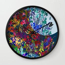 Garden of Many Moons Wall Clock
