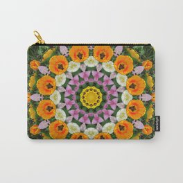 Tulips Dreams, Flower mandala, Floral mandala-style Carry-All Pouch