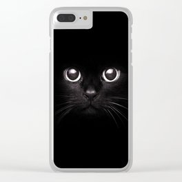 The Black Cat Clear iPhone Case
