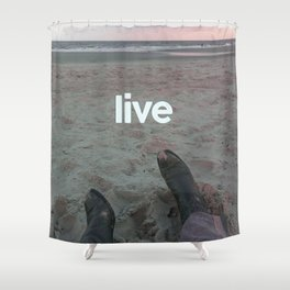 beach live Shower Curtain