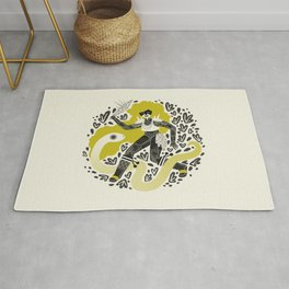 The Serpent Knight Rug