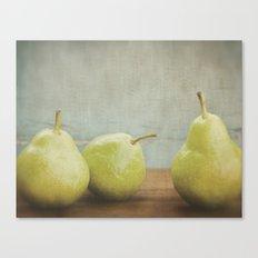 Pear Trio Canvas Print