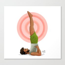 Shoulder Stand Canvas Print