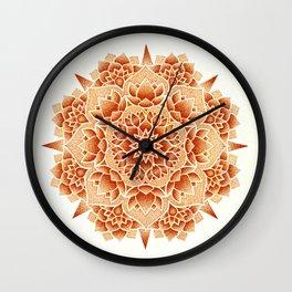 Oxide Lotus Mandala Wall Clock