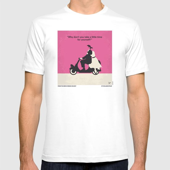 No205 My Roman Holiday minimal movie poster T-shirt