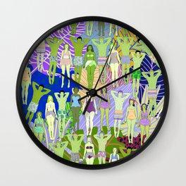 Solar Martian Green Suntan City Wall Clock