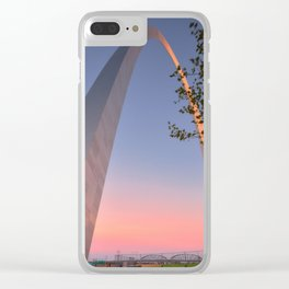 Gateway Arch at sunset in St. Louis, Missouri. Clear iPhone Case