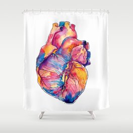 Heart Is On Fire Shower Curtain