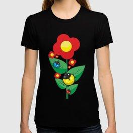 Ladybugs on Flowers #society6 #decor #buyart #artprint T-shirt