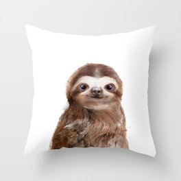 Little Sloth Throw Pillow