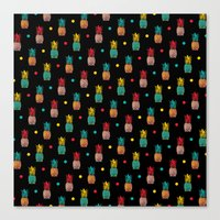 pineapples Canvas Prints featuring Pineapples! by Rendra Sy