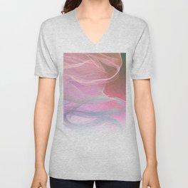 Flow Motion Vibes 1. Pink, Violet and Grey Unisex V-Neck
