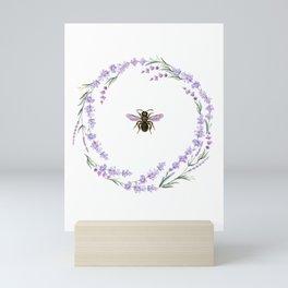 Lavender Bee Mini Art Print