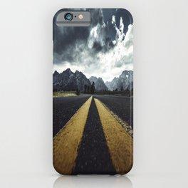 grand teton national park road iPhone Case