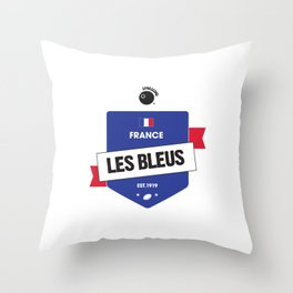 Rugby World Cup 2015 — France Rugby Union side (Les Bleus) Throw Pillow