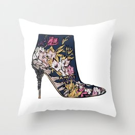 Shoe/Boot Illustration Throw Pillow