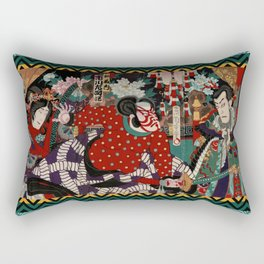 Kabuki Samurai Warriors Rectangular Pillow