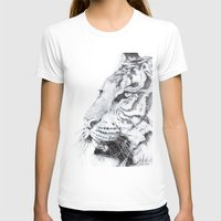 tiger T-shirts featuring Tiger by Kirsten Neil