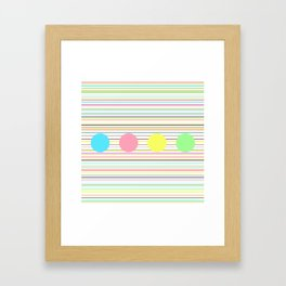 Notes and sound Framed Art Print