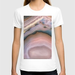 Pink and Blue agate 0425 T-shirt