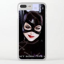 Evil Cat Clear iPhone Case