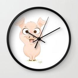 Cochon content Wall Clock