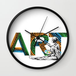 Eat Sleep Art Repeat Artist I arted Art Teacher Wall Clock