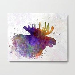 Moose 06 in watercolor Metal Print
