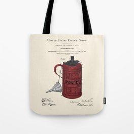 Gunpowder Can Patent Tote Bag