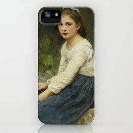 "William-Adolphe Bouguereau ""Young girl with grapes (Jeune fille aux raisins)"" iPhone Case"
