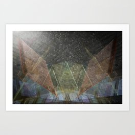 split reflect Art Print
