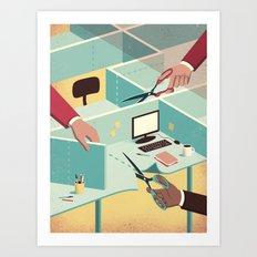 Tailor-made workspace Art Print