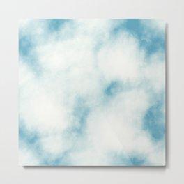 white clouds tie dye Metal Print