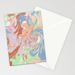 Modern Marble in Pastel Earthtone Stationery Cards
