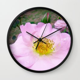 Funky Rose baby pink & yellow Wall Clock