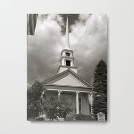 Here is the Church, Here is the Steeple Metal Print