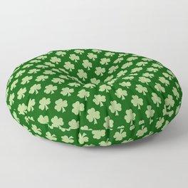 Shamrock Clover Polka dots St. Patrick's Day green pattern Floor Pillow