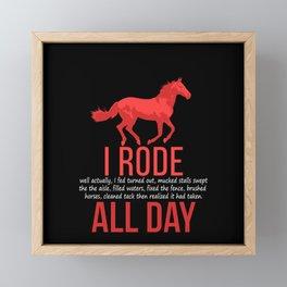 Horse Riding Framed Mini Art Print